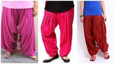 Patiala Salwar... a traditional Indian folk pants worn under a loose tunic