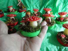 Arte em Casa por Rita Candeu: Lembrancinhas Cogumelos e Casinhas