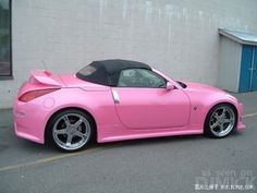 Nissan 350z Pink - Girly Cars for Female Drivers! Love Pink Cars ♥ It's the dream car for every girl ALL THINGS PINK!