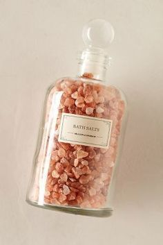 Anthropologie Mullein & Sparrow Pink Himalayan Bath Salts #anthrofave #anthropologie
