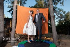 Trampoline Photo Booth #wedding
