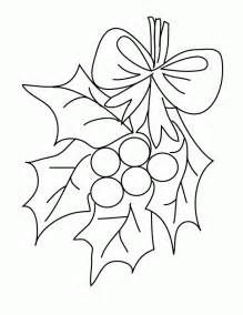 It is a picture of Revered Mistletoe Coloring Page