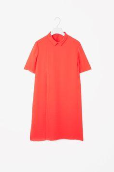 Pleated raw-cut dress