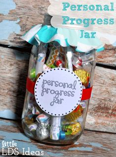 Personal Progress Jars - so cute!