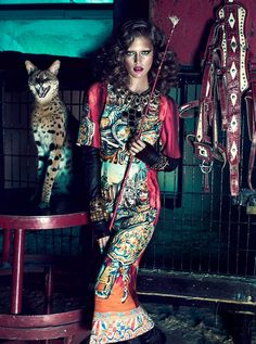 Kim Cloutier Joins the Circus for Dress to Kill Magazine by Chris Nicholls | Fashion Gone Rogue: The Latest in Editorials and Campaigns
