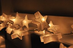 20 Battery Powered LED  White Star Paper Lantern String Lights for Party Wedding and Decorations on Etsy, $16.50