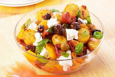 Aromatic olives and feta combined with a vinaigrette dressing make this extraordinary Mediterranean-style potato salad!