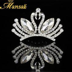 Aliexpress.com   Buy Mansati SwanTiaras Infantil Crystal Hair Comb Girl Crown  Wedding Hair Accessories Bridal Head Jewelry Wedding Headband HG003 from ... aa0ba8b8bca6