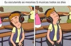 Me listening to same song 172738 times a day and still Loving it 💜 . Memes Status, Dankest Memes, Funny Memes, Mundo Musical, Icarly, Reaction Pictures, Best Memes, Cringe, Easy Drawings