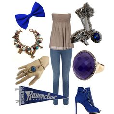 """Casual Ravenclaw Outfit"" by emilymorgan-2 on Polyvore"