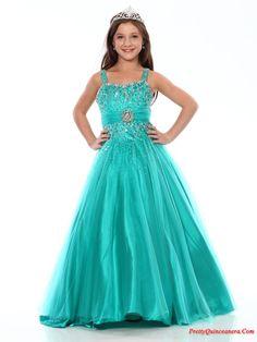 little girls dresses   little girl birthday Pageant dresses,Beautiful A-line strap floor ...