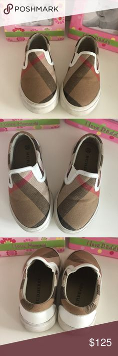 Burberry slip on sneakers Burberry slip on sneaker good condition Shoes Sneakers