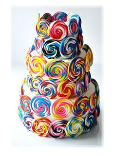 Sweet Lollipop Swirl Cake Picture