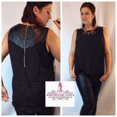 "PLUS 1X❤️Chiffon & Faux Leather Moto tank Cami Black Chiffon & Faux Leather Moto tank Cami Great for layering under Blazers or worn alone Looks great paired with the he black faux leather midi skirts listed separately! Silver back zipper, hi low cut  Double lined, slightly sheer  Size 1X Bust approx 23"" across, 27-30"" long 100% polyester New, tags attached  Price firm unless bundled Create a bundle for 15% off! Thanks for looking✌️❌NO PAYPAL❌NO TRADES❌ Hourglass Lady Tops"