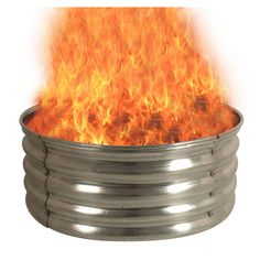 This Galvanized Round Fire Pit Ring is durable and makes a simple, yet elegant centerpiece for your backyard or outdoor setting. Designed to complement your current motif, this fire ring offers visual appeal while keeping you warm on cool nights. Steel Fire Pit Ring, Fire Ring, Round Fire Pit, Elegant Centerpieces, Fire Pit Designs, Fire Pit Backyard, Outdoor Settings, Galvanized Steel, Wood Design