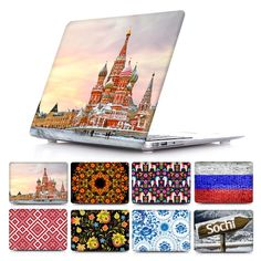 Unique Russian style pattern Print Case for Mac Book Pro Retina 13 15 Fashion Macbook Air 11 12 13 Hard Cover colorful Shell
