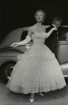 1955-  Balenciaga evening gown