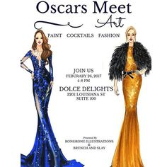 Join me and @brunchandslay for my first ever in person fashion illustration workshop- Oscars Meet Art!! Unlike traditional way, we make it extra fun and glamorous while you tap into your inner creativity. Let us watch Oscars, sip bubble and p