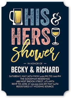 Bridal Shower Invitation Couples Shower Tools Shower invitations