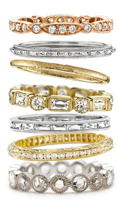 Exquisite wedding bands from Single Stone with luxurious details.