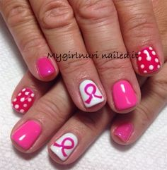 Day 301: Pink Polka Dots Nail Art - - NAILS Magazine
