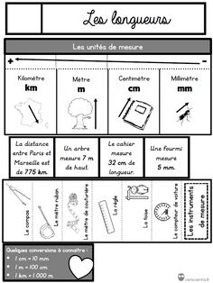 / French Lessons to handle Cycle 3, Math Courses, Math Measurement, Montessori Math, Teachers Corner, French Lessons, Math For Kids, Interactive Notebooks, Math Lessons
