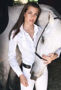 Princess Caroline of Monaco's daughter... Charlotte Casiragh.