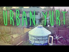Urban Yurt living - Packs in a few hours - Rocketstove - YouTube