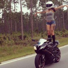 Motorcycle Women - shift_life