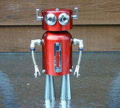 TAKE 10% OFF Summer Sale COSMO  Found Object Robot Sculpture Assemblage