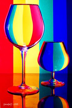 Rainbow glasses 2 by GandalfLeNoir on DeviantArt Glass Photography, Abstract Photography, Still Life Photography, All The Colors, Vibrant Colors, Rainbow Connection, World Of Color, Over The Rainbow, Rainbow Colors