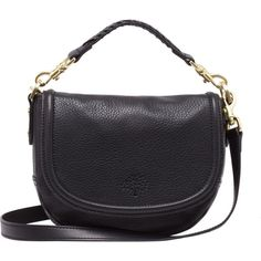 Small Effie Satchel Black Spongy Pebbled ($850) ❤ liked on Polyvore