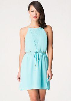 Chain & Lace Detail Dress