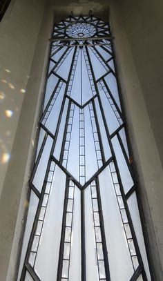 Interior view of the spire windows