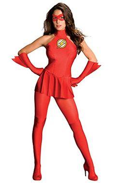 Damen The Flash Kostüm ca 43€  Kostüm-Idee zu Karneval, Halloween & Fasching