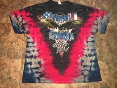 Lynyrd Skynyrd Free Bird T-shirt XL Men's Shirt Eagle Tie Dye Southern Rock #Delta #GraphicTee