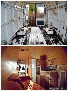 The Homestead Survival   Convert A Van Into A Mobile Tiny Home   Tiny Home - House - Camper - DIY Project http://thehomesteadsurvival.com #survivalvan