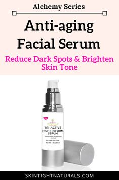 Anti-aging Facial Serum | Victoria's Tri-Active Night Reform Serum Formulated with Dermatology Approved Ingredients is designed like a full out boot camp for your skin. It works while you sleep. It can help diminish Fine Lines and Wrinkles, Lightens Age Spots, Minimizes Pore Size, Brightens Skin, and Fades Acne Scars Cream For Dark Spots, Lighten Dark Spots, Skin Tightening Cream, Wrinkle Remedies, Loose Skin, Sagging Skin, Facial Serum, Skin Brightening, Skin Cream