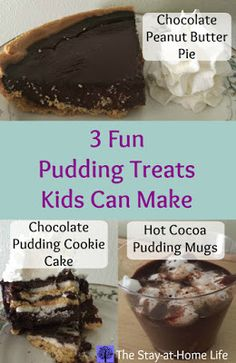 Each recipe is super easy, tasty and turn regular pudding into something dressed up and fun. Since they're so simple, kids can help make them (the younger ones will need you to help them with the stove parts). They'll love creating a yummy treat. Nothing I made lasted very long, it was eaten up before I knew it!