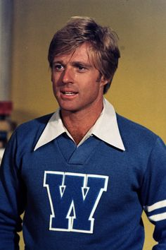 """bonjour-paige: """" """" Robert Redford in The Way We Were, 1973 """" """" Happy Birthday to Robert Redford Hollywood Stars, Classic Hollywood, Old Hollywood, 10 Film, Paul Newman Robert Redford, Most Handsome Actors, Handsome Guys, Sundance Kid, Varsity Sweater"""