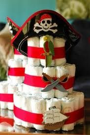 pirate themed baby shower - I could make it soooo much cuter. But this does make me want to do our sons room in pirates :)