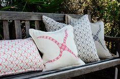 Large and Small Sea Star    Custom Pillows   Bolt House Textiles