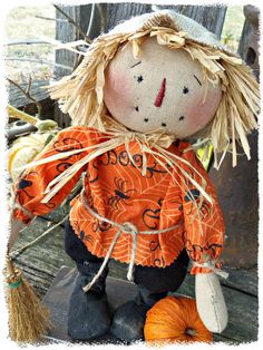 Standing Scarecrow 10' tall  Hand by SunshineAnniedesigns on Etsy, $34.95
