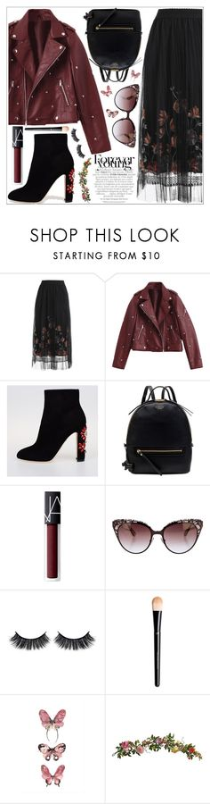 """""""style"""" by lena-volodivchyk ❤ liked on Polyvore featuring Dolce&Gabbana, Radley, NARS Cosmetics, Jimmy Choo, Battington and Nearly Natural"""