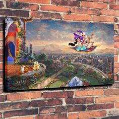 Canvas Print Art Work Painting Disney Pirate Ship Home Wall Decor 16x24