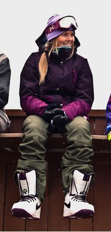 I want her jacket. We need some freaking snow first. I live an hour away from some of the best resorts and there is NO SNOW!! Annoying. :o/