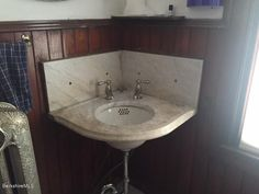 Victorian Corner Sink : about Victorian Powder Room on Pinterest Powder rooms, Corner sink ...