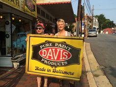 Fabulous vintage sign from the old Yates Hardware in Ellicott City, now the home of A Journey from Junk!