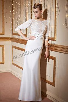 Ivory Lace Half sleeves Bridal dress BE221
