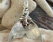 TO PRE-ORDER Romance of the Sea Large Mermaid tail Pendant, Sterling Silver